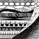 Dip Pen and India Ink on Paper  5.5 inches by 5.5 inches