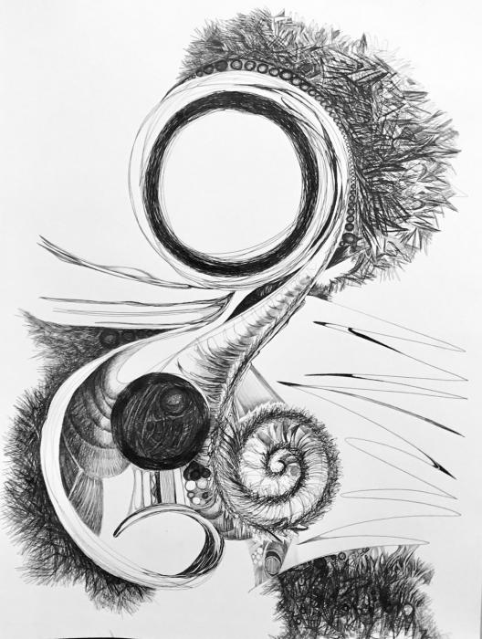 Ball Point Pen on paper