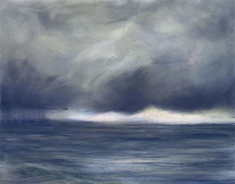 "Stormy Skyline  Digital Painting  18"" x 24"""