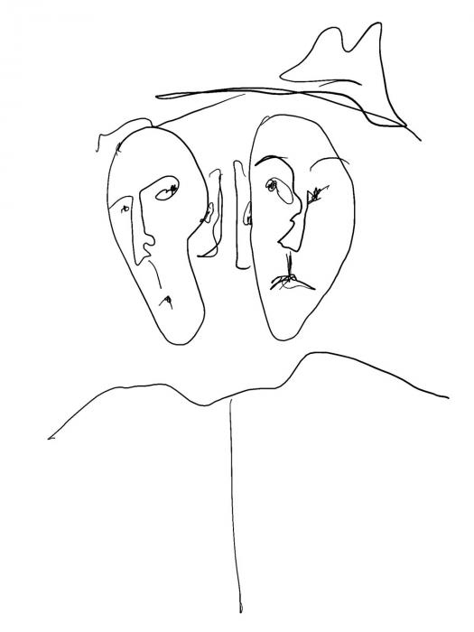 """Two Heads""   Digital Print  1/10"