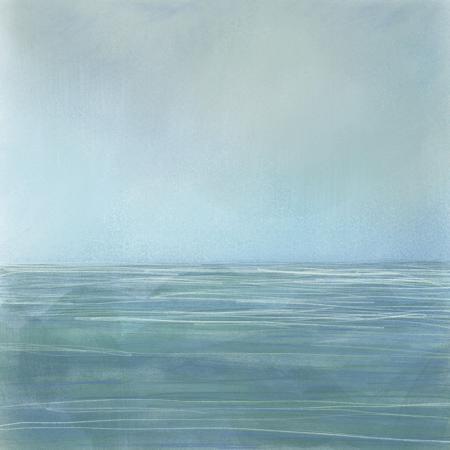 """Turquoise Sea""  Digital Painting  Edition 1/10  20"" x 20"""